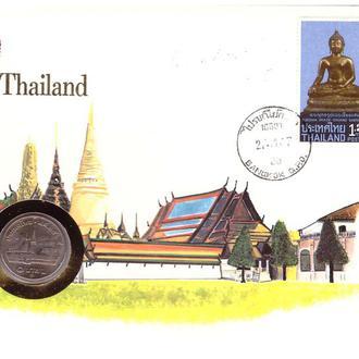 Таиланд 1984 г - ХМК - КПД СГ - ООН - С МОНЕТОЙ - архитектура - Будда