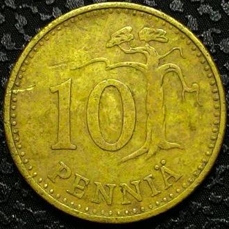 Финляндия 10 пенни 1964 год СОСТОЯНИЕ!!!