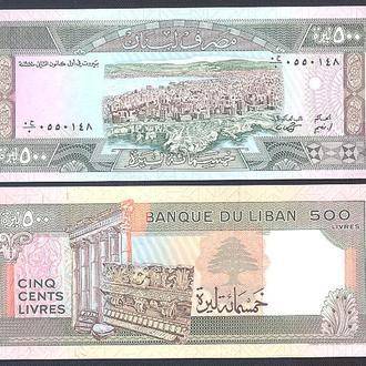 Боны Азия Ливан 500 ливр 1988 г.