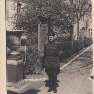 Фото. Старшина МВД с повязкой дежурного. 1940-50 гг.