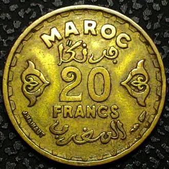 Марокко 20 франков 1951 год ОТЛИЧНОЕ  СОСТОЯНИЕ!