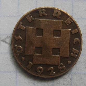 АВСТРИЯ, 2 гроша 1928 года.