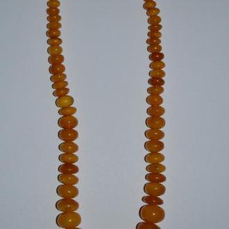 шикарные бусы янтарь общий вес 30,95 грамм отличное состояние винтаж