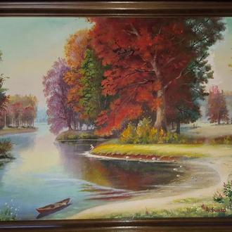 """Картина """"Осень наступает"""" (пейзаж), Божко А.И., 2011"""