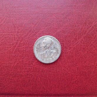 Эфиопия 50 центов 1944 серебро