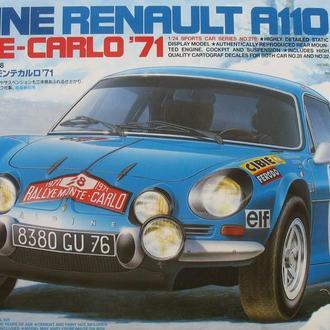 Сборная модель автомобиля Alpine  Renault A110  Monte-Carlo'71 1:24 Tamiya