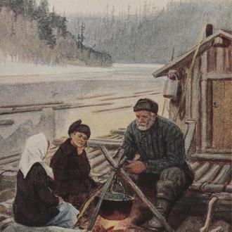 Открытка. Живопись. 1956 г. (1-41)