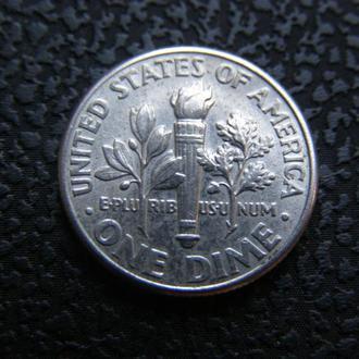 1 дайм США 2002