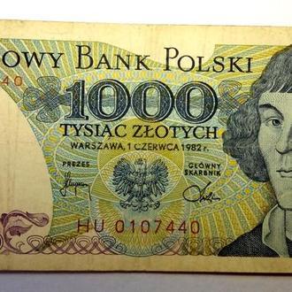 1000 злотых 1982 года Польша