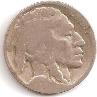 Монета 5 центов (США) 1930 Бизон (Индеец) (1)