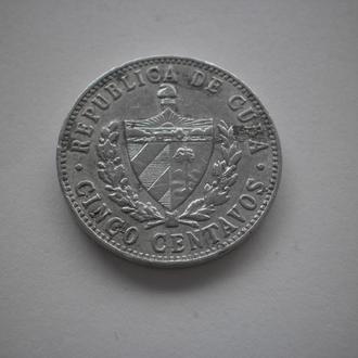 Куба. Революційна монета. 5 центавос. 1968 рік. Хороший стан.