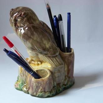 Статуэтка сова-подставка прошлого века