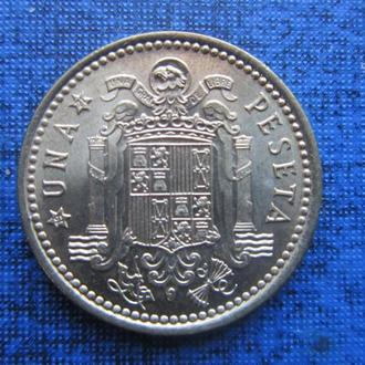Монета 1 песета Испания (1966) 1971 состояние