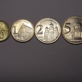 Югославия набор монет UNC 4шт.