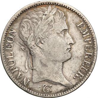 Франция 5 франков 1811 Наполеон  серебро VF++ массивная, оригинал R! (Бесплатная доставка из Польши)