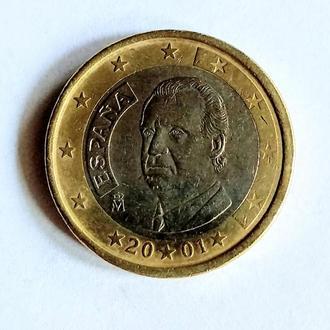 1 Евро, Испания, 2001