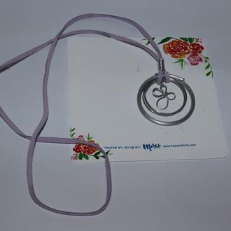 новый набор кулон на шнурке с открыткой heaventhink вес 5,3 грамм винтаж