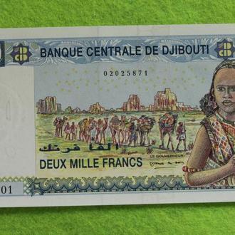 Джибути 2000 франков UNC