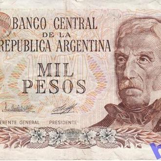Аргентина 1000 песо 1976. Редкая серия Е. Р304b