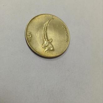 СЛОВЕНИЯ, 5 толаров 1993