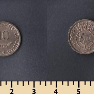 МОЗАМБИК 10 СЕНТАВО 1961