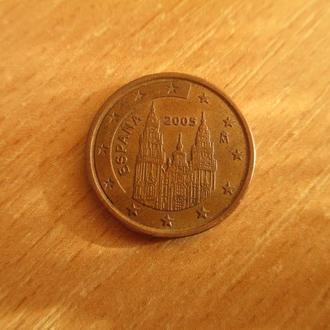 Испания 5 евро центов 2005