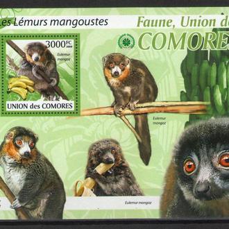 Коморы 2009 ** Фауна Млекопитающие Приматы Лемуры БЛ MNH