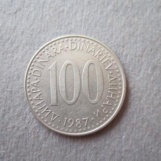 100 динар 1987г.