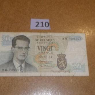 Бельгия 20 франков  1964 (210)