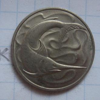 СИНГАПУР 20 центов 1981 г. (РЫБА; состояние).