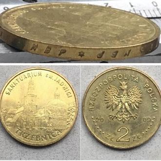 Польша 2 злотых, 2009г.  Города Польши - Тшебница / Юбилейные монеты