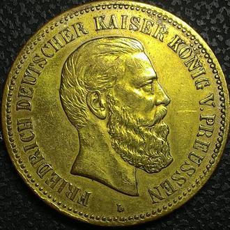 Германия медаль 1888 год .  дм. 40мм.