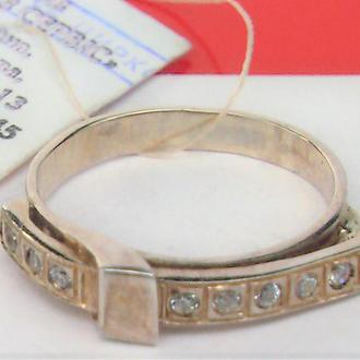 Кольцо перстень новое серебро 925 проба 2,67 грамма размер 17
