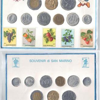 Набор Монет и Марок Сан-Марино