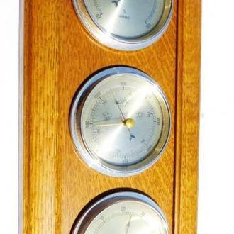 -n-----  Барометр, термометр, - Германия = метеостанция - 39 х 16  см - дуб