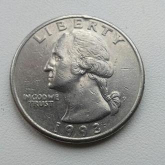25 центів 1993 США
