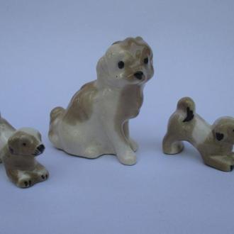 Собака с щенками статуэтки керамика
