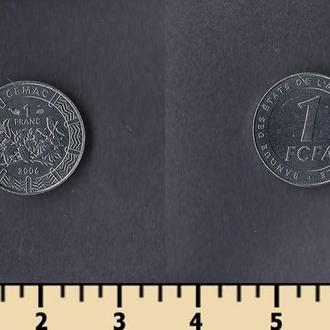 Центрально-Африканские штаты 1 франк 2006