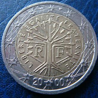 Франция 2 евро 2000