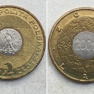 Польша 2 злотых, 2000г. Смена Тысячелетия. Юбилейные монеты