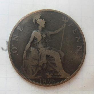 ВЕЛИКОБРИТАНИЯ. 1 пенни 1898 года (Виктория).
