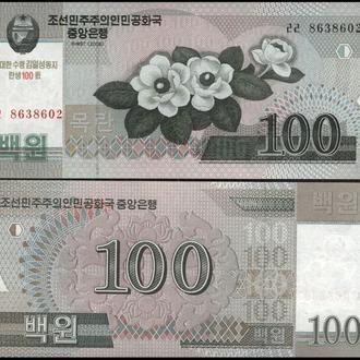 СЕВЕРНАЯ КОРЕЯ 100 вон 2008г. UNC