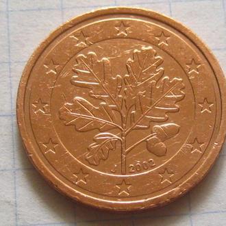 Германия_ 2 евро цента 2002 J оригинал