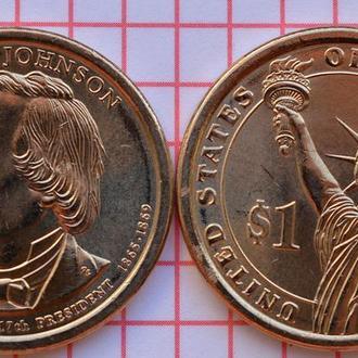 1 доллар 17-й президент США Эндрю Джонсон, 2011 г