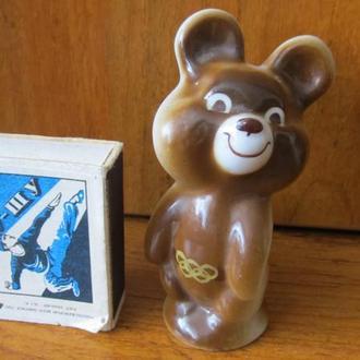 Олимпийский мишка фарфор СССР