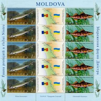 Молдова 2007 Рыбы. Лист. Фауна **