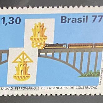 1977. Бразилия. Железная дорога. Мосты. MNH