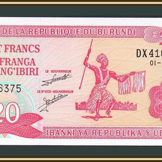 Бурунди 20 франков 2007 P-27 (27d.5) UNC
