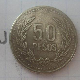 КОЛУМБИЯ, 50 песо 2004 года.