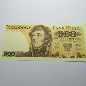 500 злотих 1982 Польща, unc, пресс, оригинал!